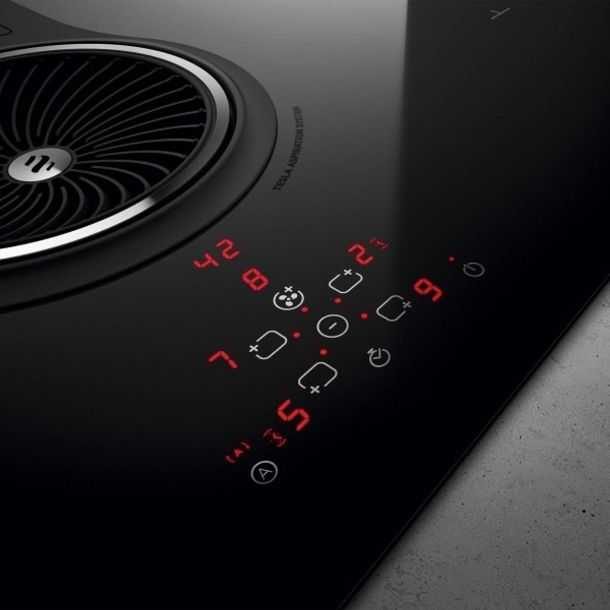 Eico integrert ventilator og platetopp induksjon NikolaTesla One
