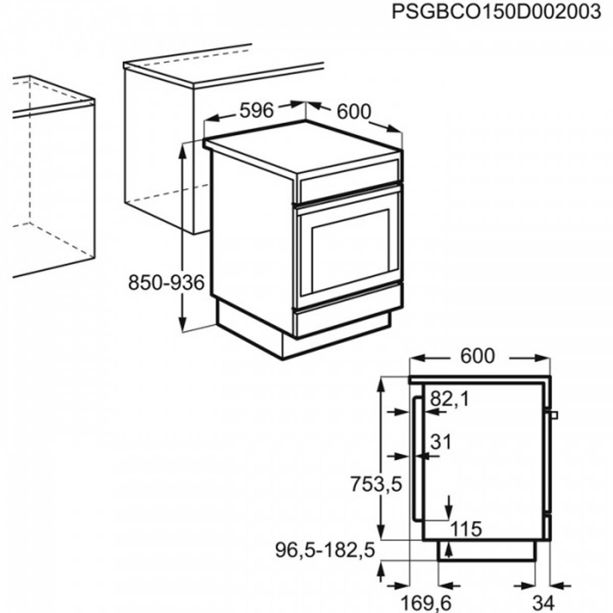 Electrolux komfyr keramisk hvit EKC6051FOW