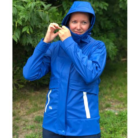 Bilde av HOPPIN REGNJAKKE HIMMELBLÅ - vanntett jakke til dame