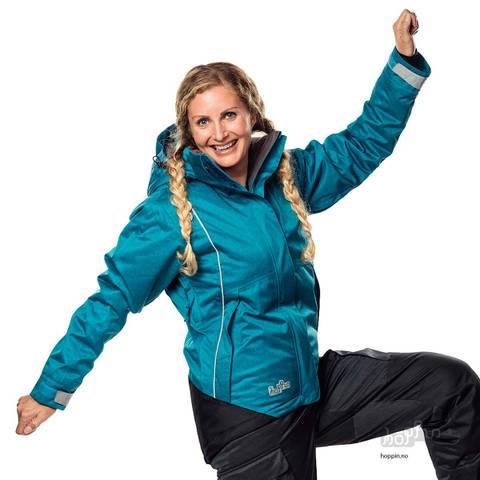 Bilde av HOPPIN VINTERJAKKE TURKIS - Vattert jakke til dame