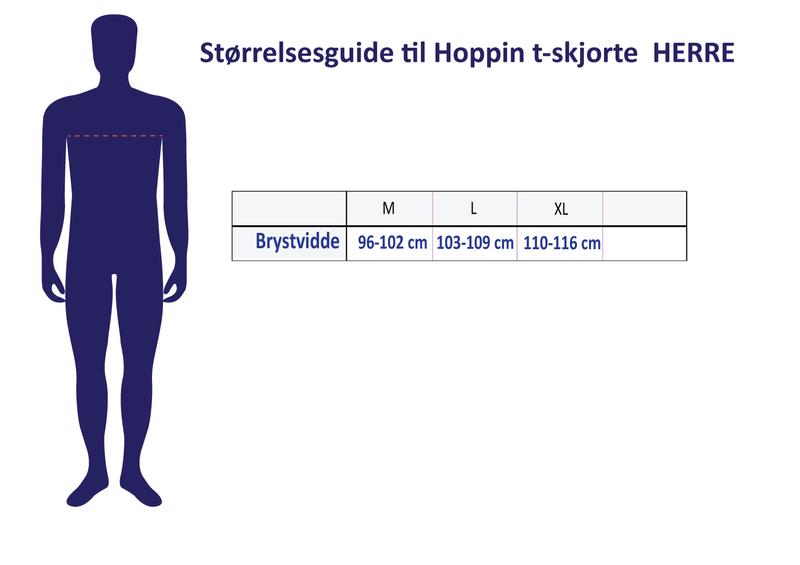 HOPPIN T-SKJORTE GRÅMELERT - herre