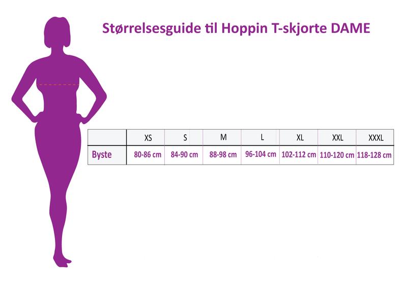 HOPPIN T-SKJORTE GRÅMELERT - dame