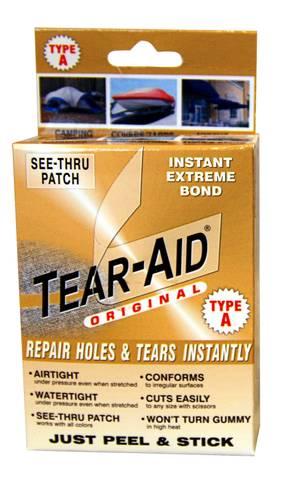 Bilde av TEAR-AID REPAIR KIT TYPE A - reparasjonsteip til tekstiler