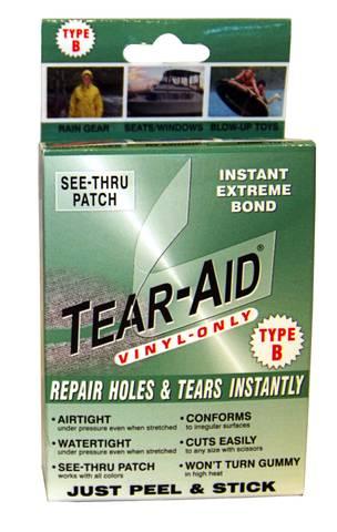 Bilde av TEAR-AID REPAIR KIT TYPE B - reparasjonsteip til Vinyl