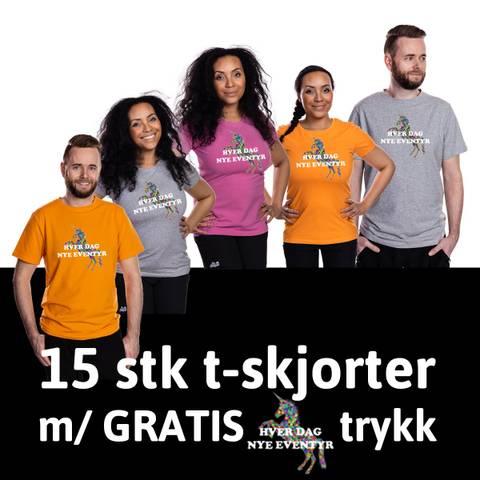Bilde av HOPPIN T-SKJORTER 15 stk - GRATIS