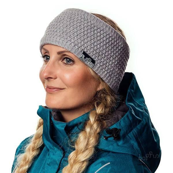 HOPPIN PANNEBÅND GRÅMELERT - Reflekspannebånd i ull
