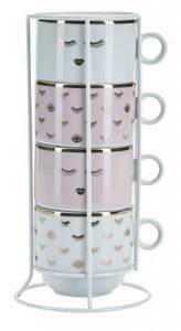 Bilde av 4 stk kopper, rose designs, Miss Etoile