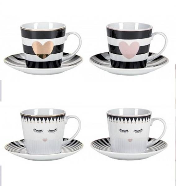 Espressokopper, 4 pkn, Miss Etoile