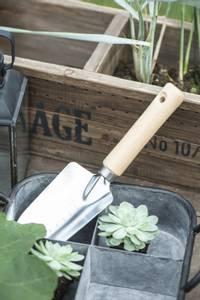 Bilde av Spade med trehåndtak og bredt blad