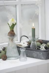 Bilde av Kronelys kort variant Oliven pr. stk