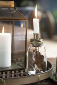 Bilde av Lysestake i glass til kronelys med metallokk