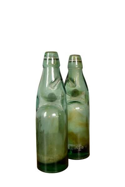 Gammel glassflaske UNIK