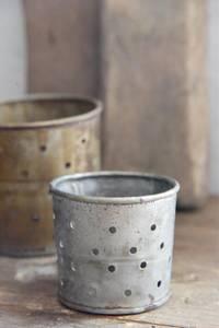 Bilde av Lysestake H: 10 cm rust/zink finish