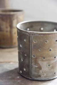 Bilde av Lysestake H: 14 cm rust/zink finish