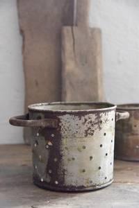 Bilde av Lysestake med ører H: 12 cm rust/zink finish