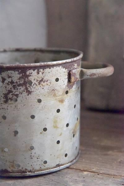 Lysestake med ører H: 12 cm rust/zink finish