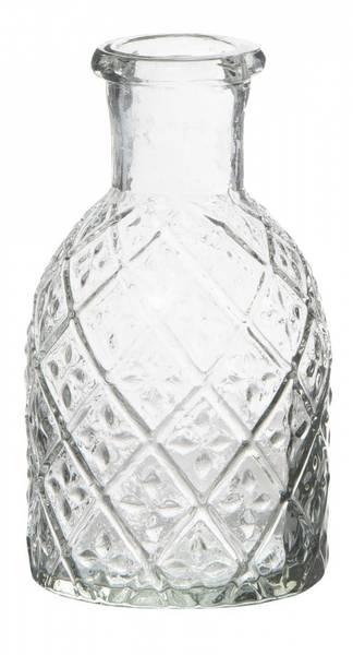 Liten apotekerflaske til kronelys/lysholder harlequin mønster