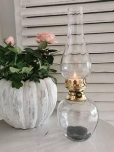 Bilde av Lysholder til telys glass/gull
