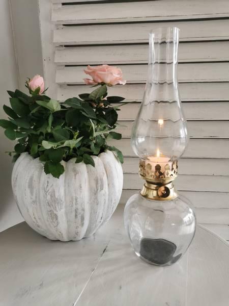 Lysholder til telys glass/gull