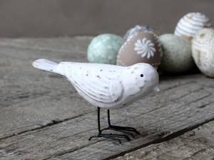 Bilde av Fugl i tre, hvit