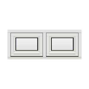 Bilde av H-vinduet sidesving 2 rams 100x40 (99x39)
