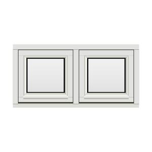 Bilde av H-vinduet sidesving 2 rams 100x50 (99x49)