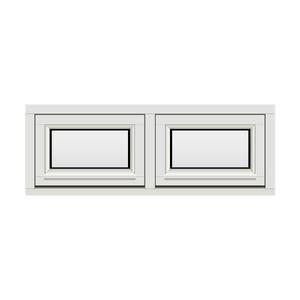 Bilde av H-vinduet sidesving 2 rams 110x40 (109x39)