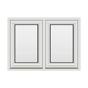 Bilde av H-vinduet sidesving 2 rams 110x80 (109x79)