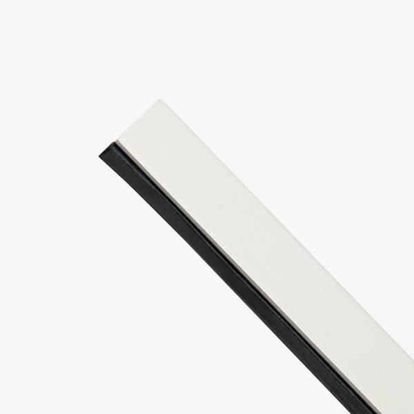 Glasslist Side/Topp PVC 15,5x17mm L2240mm Hvit