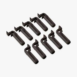 Bilde av Klips for aluminium klipssprosser, 10pk Sort plast