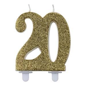 Bilde av Kakelys glitter gull 20år