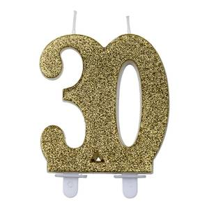 Bilde av Kakelys glitter gull 30år
