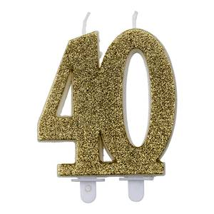 Bilde av Kakelys glitter gull 40år