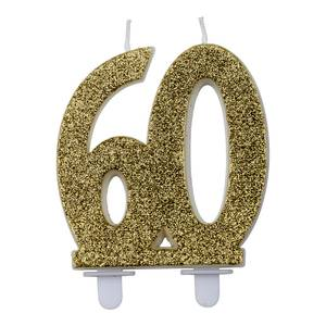 Bilde av Kakelys glitter gull 60år