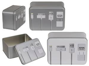 Bilde av Metallboks for oppbevaring av tlf.ledninger