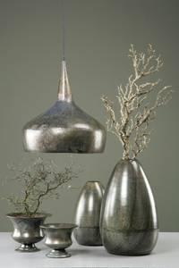Bilde av Vase Eve Onyx i metall, 19x40cm