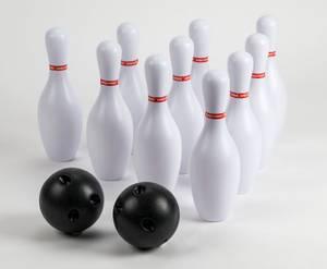 Bilde av Bowlingspill med 10 kjegler og 2 kuler