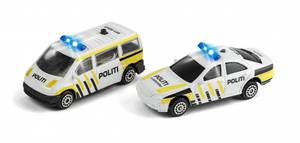 Bilde av Politibiler med lys og lyd 2pk