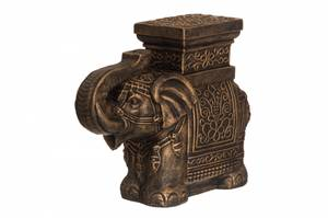 Bilde av Pidestall Elefant Gull 55cm