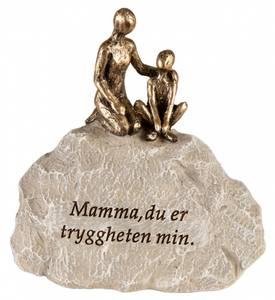 Bilde av Familie grå stein Mamma du er... h:10cm