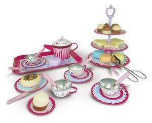 Bilde av 4-Girlz Tesett i tinn med kaker, 47 deler