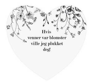Bilde av Magnetskilt hjerte Venner plukket 8x7,5cm