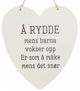 Bilde av Metallskilt hjerte Å rydde mens barna…16x17cm
