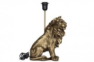 Bilde av Lampe Løve mørk gull poly 25x32/42cm