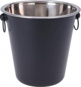 Bilde av Vinkjøler matt sort blank metall 20x20cm