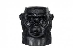 Bilde av Blomsterkrukke Gorilla Kongo sortbrun 27x26x29cm