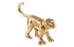 Bilde av Knagg apekatt gull metall 13x9cm