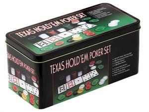 Bilde av Texas Hold'em sett i metallboks