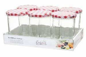 Bilde av Glasskrukke for mat 6pk, 440ml