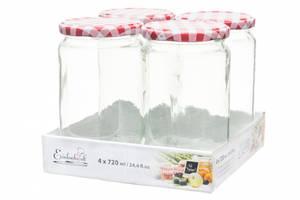 Bilde av Glasskrukke for mat 4pk, 420ml